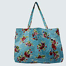 Oilcloth Weekend Bag Vintage Inspired Floral