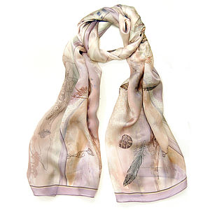 Feather Blown Silk Scarf