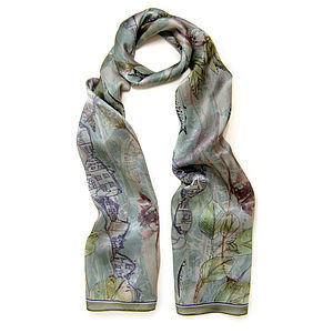 Sea Mint Silk Scarf