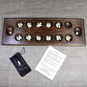 Wooden Mancala Board Game