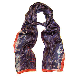 Midnight Silk Scarf