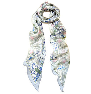 Jade Wings Silk Scarf