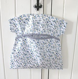 Oilcloth Peg Bag - laundry room