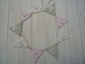 Personalised Wooden Bunting - children's decorative accessories