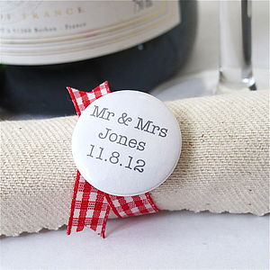 Personalised Wedding Favour Badges / Magnets - wedding favours