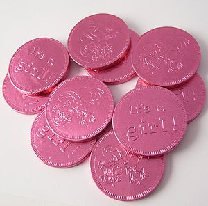 Set Of 30 New Baby Shower Foiled Chocolate Coins - sweets & chocolate