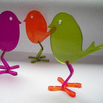 Trio of decorative Eric birds