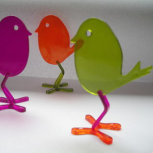 Trio Of Eric Bird Decorations - art & decorations