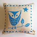 Baby Owl Screenprint Cushion