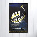Original AOA Aviavtion Travel Poster