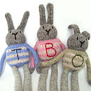 Personalised Bunny Letter Detail