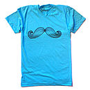 Moustache T Shirt Blue