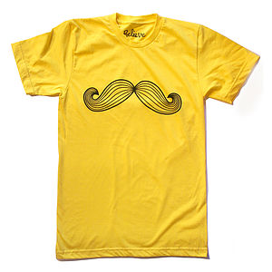 Moustache T Shirt - men's fashion