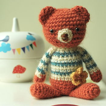Tom The Handmade Mohair Bear Amigurumi