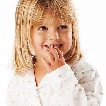 Girls Spotty Pyjamas 2-10yrs