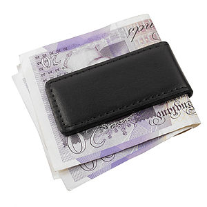 Italian Leather Money Clip - wallets & money clips