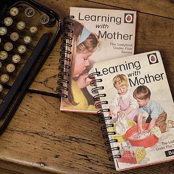 'Learning With Mother' Vintage Notebook