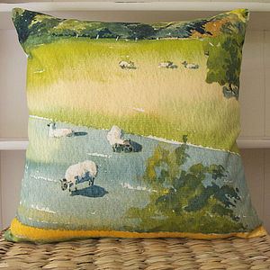 Watercolour Printed Cushion - cushions
