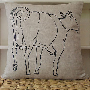 Cow Cushion 'The Free Range' - cushions