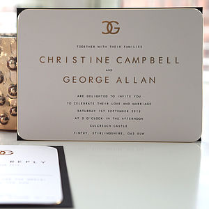 Christine Wedding Stationery Collection - wedding stationery