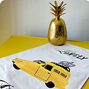 Yellow Robin Reliant Tea Towel