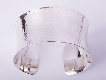 Sterling Silver Hammered Cuff Bangle