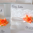 Rose And Lace Wedding Invitation