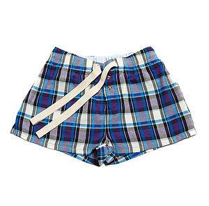 Aruba Checked Lounge Shorts - lingerie & nightwear