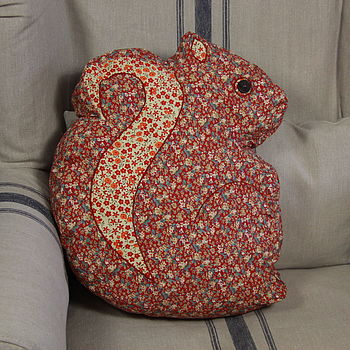 Vintage Inspired Woodland Squirrel Cushion
