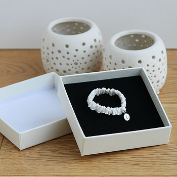 Silk Baby Wristband With Initial Pendant