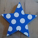 large spotty star_royal blue