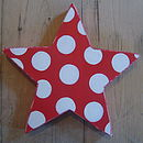 large spotty star_cherry red