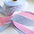 Pink and blue ribbon