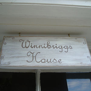 Personalised House Sign - outdoor decorations