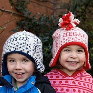 Personalised Reindeer Hat - children's hats