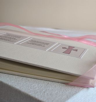 Personalised Christening Album Or Guest Book