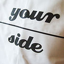 'Personalised My Side Your Side' Pillowcases