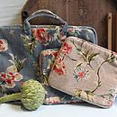 Velvet Floral Laptop Or iPad Carry Case