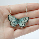 Zooey Wooden Butterfly Necklace