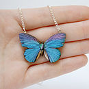 Milla Wooden Butterfly Necklace