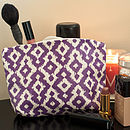 Oilcloth Make Up Bags
