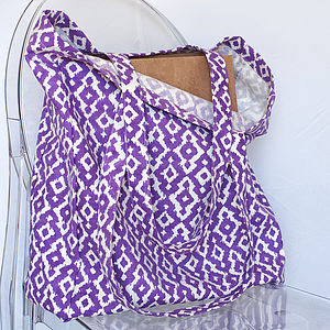 Patterned Tote Bag - womens