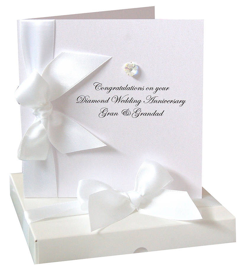 bedazzled anniversary card made with swarovski crystals by