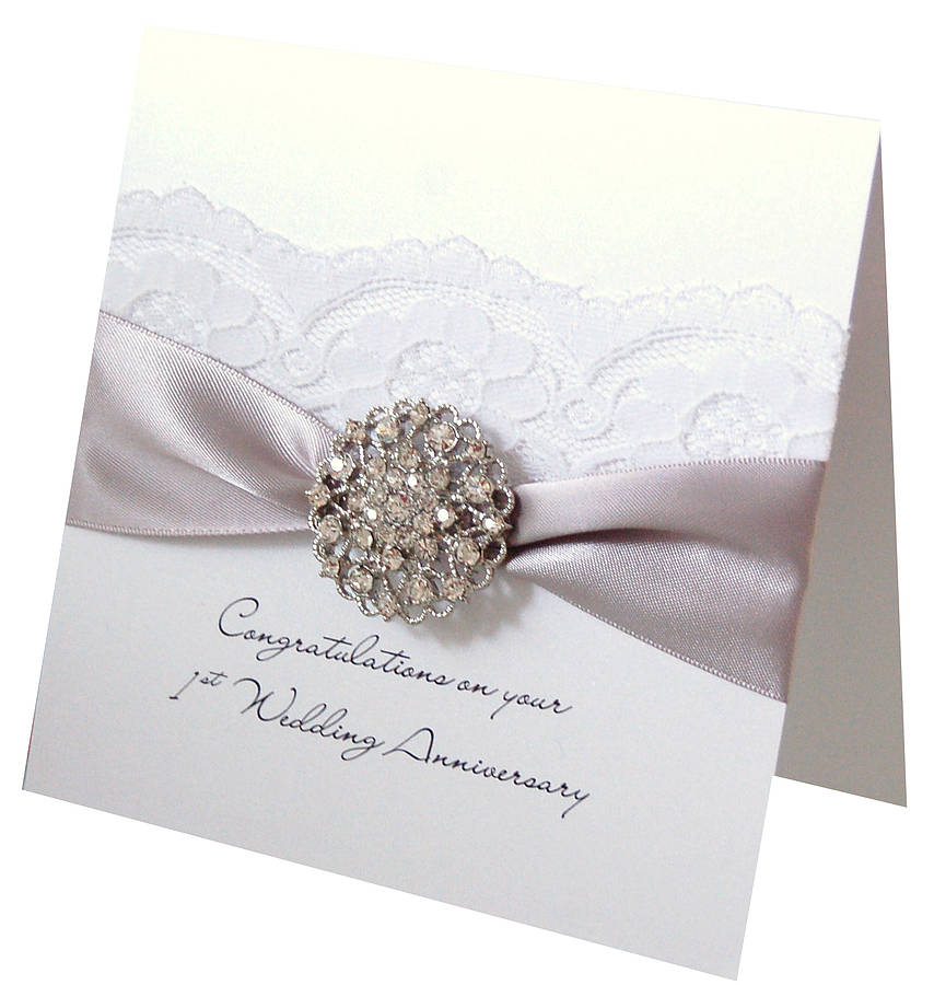 Luxury Wedding Anniversary Gifts: Opulence Wedding Anniversary Card By Made With Love