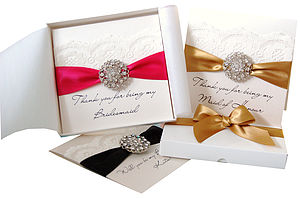 Opulence Personalised Wedding Thank You Card - thank you cards