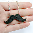 Wooden Moustache Necklace