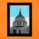 St Paul's London Lino Print