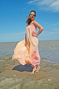 Sunset Silk Maxi Dress - wedding fashion