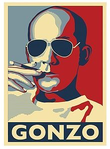 Hunter S Thompson Gonzo Art Print - gifts under £50