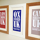 Personalised University Or City Name Print